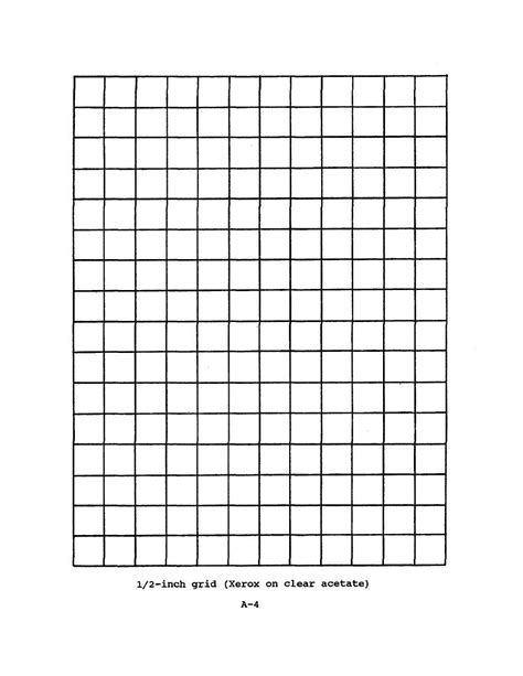 1 2 inch grid xerox on clear acetate