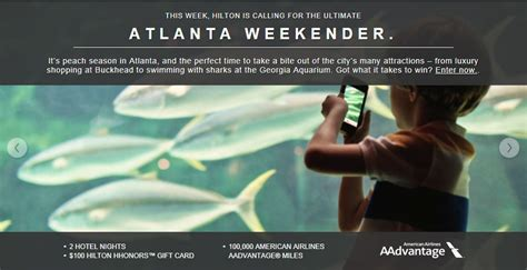 Hilton Sweepstakes - hilton atlanta weekender travel sweepstakes milesgeek