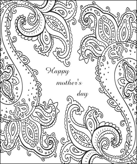 hard coloring pages for mother s day happy mother s day card color art therapy various