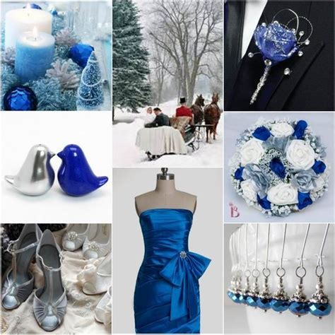 Romantic Winter Wedding Colors: Blue Shades   Silver