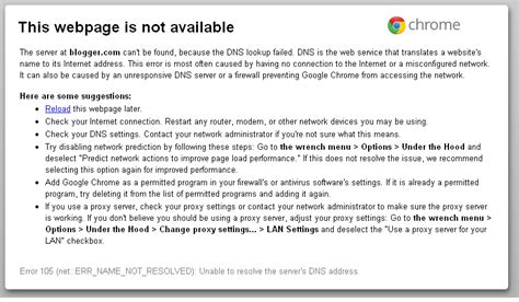 the website is currently not available troubleshooting tips for this webpage in not available