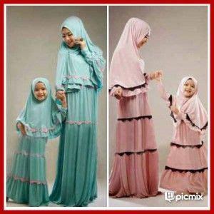Baju Muslim Ibu Dan Anak Baju Muslim Ibu Dan Anak Modis Syari Kp01 Baju Gamis