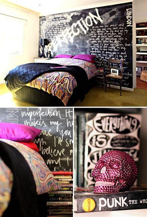 punk rock bedroom wall ceiling design inspiration
