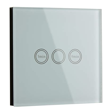 bathroom dimmer light switch 1 or 2 way glass led touch light switch timer remote