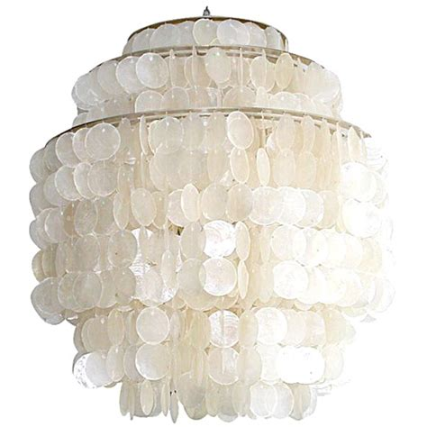 Shell Light Shades Pendant Hydromedusa 4 Capiz Shell Light By Gwen Carlton At 1stdibs