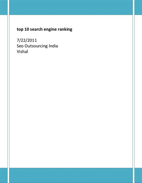 Search Engine Canada Top 10 Search Engine Rankings Top Ten Search Engine Ranking Incre