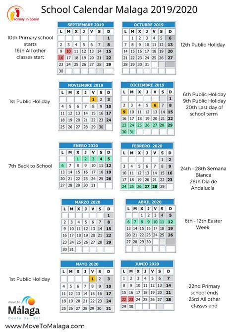 printable school calendar spain family life  spain