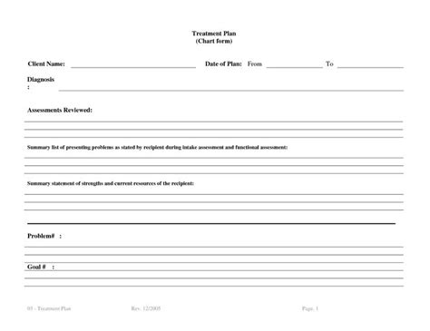 treatment sheet template 1000 ideas about plan template on 5 year