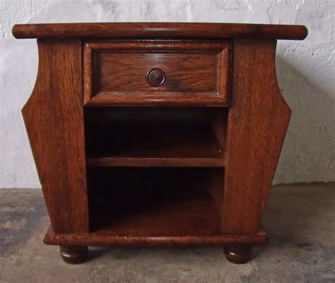 End Tables With Drawers And Magazine Rack by Oak Side End Table With One Drawer And Magazine Rack