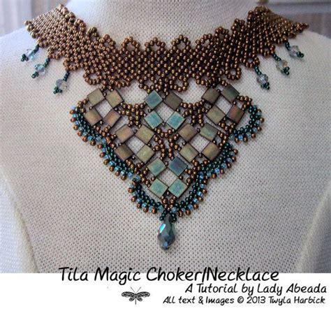 bead weaving tutorials beading tutorial quot tila magic choker necklace quot pdf format