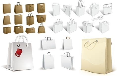Shopping Bag Paperbag New Year Xincia Size S bag a variety of blank vector free vector in encapsulated postscript eps eps vector