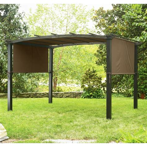 garden oasis curved pergola kmart 2010 curved top pergola gf 10s064b garden winds