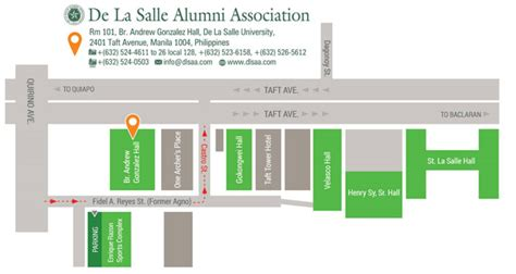 De La Salle Mba Schedule by Contact Us De La Salle Alumni Association