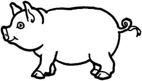 picture of pig coloring page pig line drawing clipart best