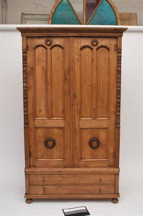 f8302 pine wardrobe pine armoire bedroom furniture pine armoire for sale at 1stdibs