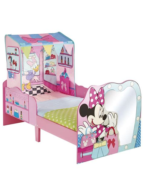 Minnie Mouse Toddler Bed With Canopy Disney Minnie Mouse Toddler Bed And Canopy By Hellohome