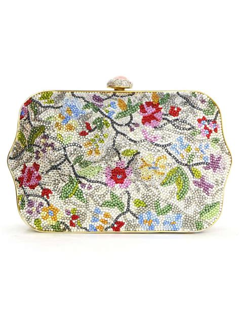 Judith Lieber Glisten Floral Purse judith leiber multi colored floral embellished