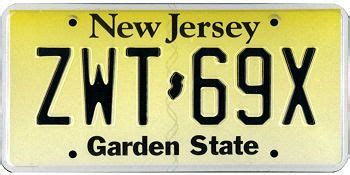 the official new jersey state license plate car licence