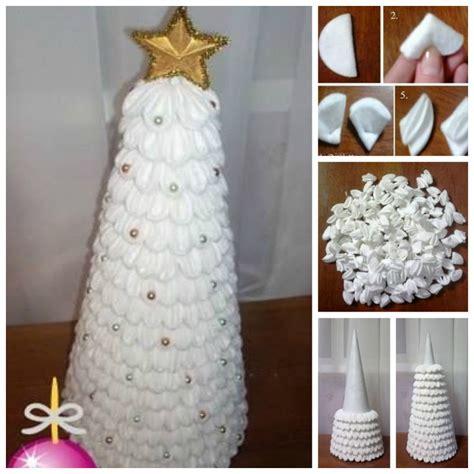 Creative Ideas Handmade - creative ideas diy cotton pad tree