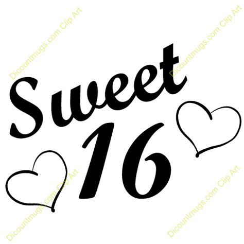 Sweet 16 Clipart sweet 16th clipart