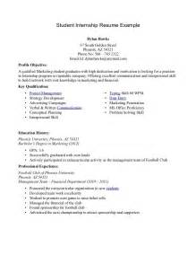 Resume Sles For Students In College by Student Resume Templates Sle Student Resumes Sle