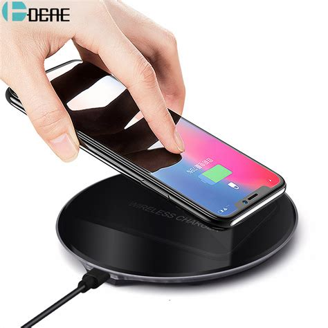 dcae qi wireless charger for iphone x 8 xs max xr wireless charging for samsung s9 s8 note 9