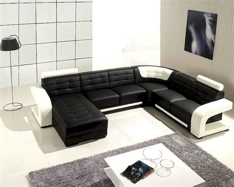 white and black sofa set black and white leather modern sectional sofa set 44lt139