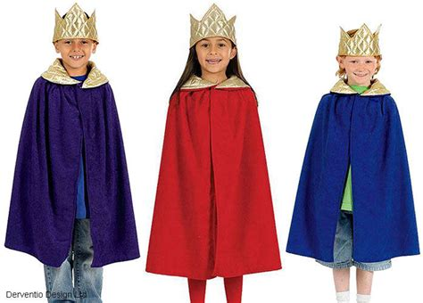 kings pattern history kids royal king queen boys girls medieval cape crown