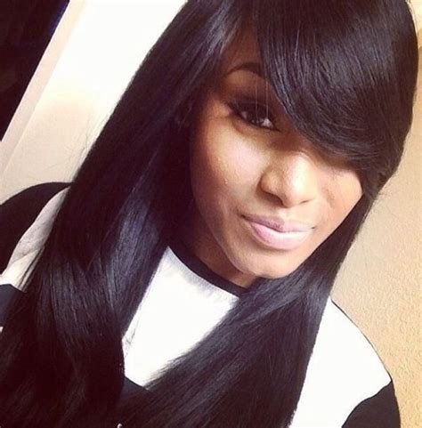 styling swoop bangs quick weave styles with bangs hair pinterest cute