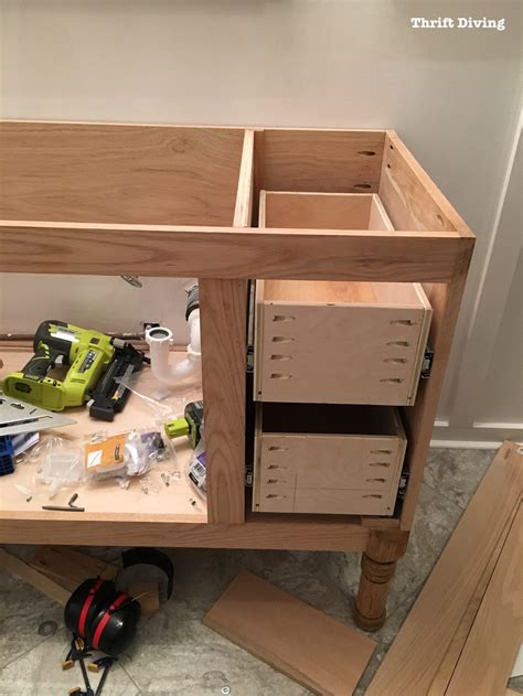 Building Drawers For Cabinets by Build A Diy Bathroom Vanity Part 4 The Drawers