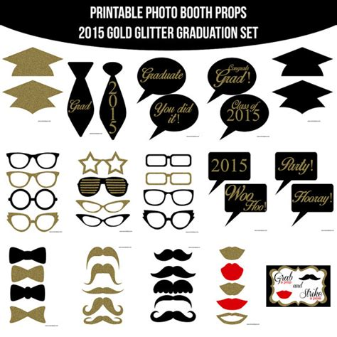 printable graduation photo booth props 2015 9 best images of booth props 2015 printable photo booth