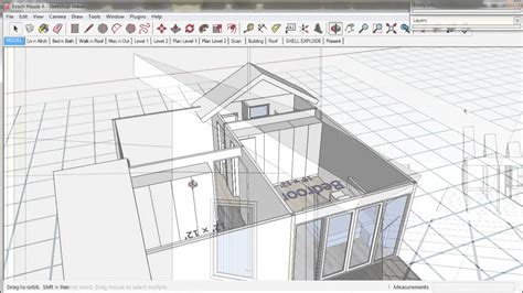 tutorial sketchup building 8 make a roof a trebld and sketchup tutorial youtube