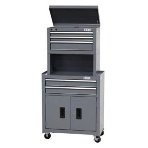 Hdx Cabinets by Hdx 26 In 5 Drawer Tool Chest And Cabinet Combo With