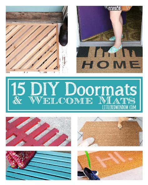 diy doormats   mats  red window