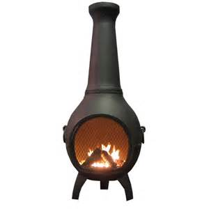 Clay Chiminea Home Depot Blue Rooster Ch027