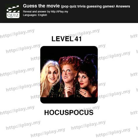 film quiz level 41 guess the movie pop quiz answers iplay my