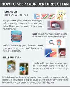 how to clean how to keep your dentures clean visual ly