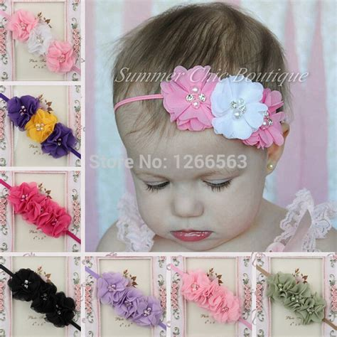 beautiful headband hairband baby flowers aliexpress buy beautiful soft elastic headband