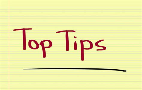 best tips tips on coursework