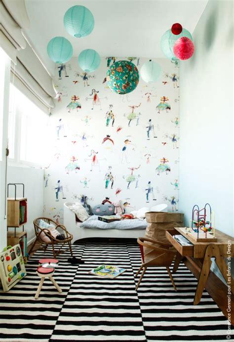 tapisserie chambre d enfant chambre enfant originale deco tapisserie