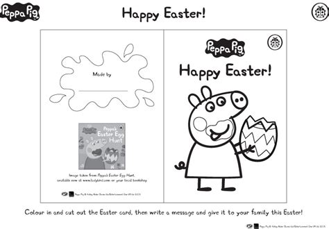 peppa pig easter coloring pages peppa pig easter card scholastic kids club