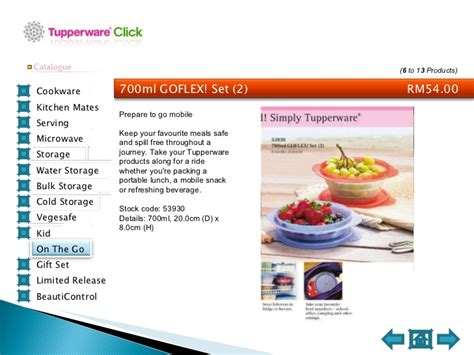 Tupperware Goflex 700ml tupperware catalogue