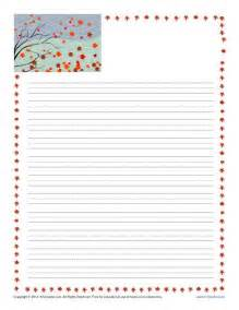 fall printable lined writing paper