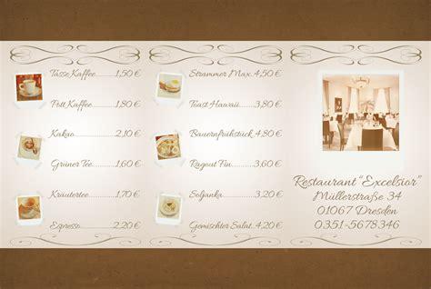 Speisekarte Design Vorlagen Tutorial Restaurant Karte Speisekarte Erstellen 187 Saxoprint