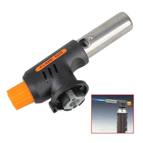 portable gas torch butane burner blower auto ignition outdoor cing welding bbq flamethrower