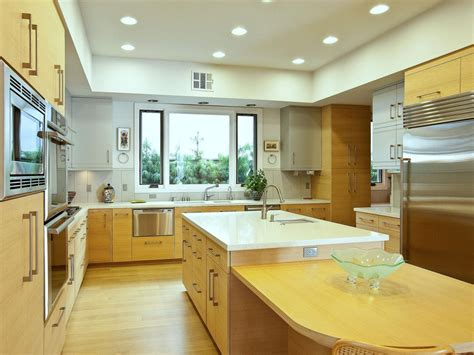 modern kitchen with oak cabinets photo page hgtv