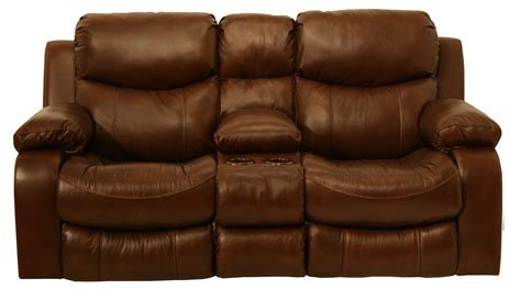 power loveseat recliner with console dallas tobacco power reclining loveseat with console from