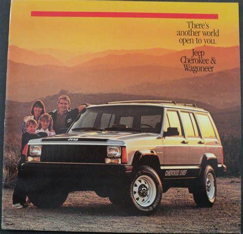 jeep cherokee chief blue 1986 jeep cherokee pioneer chief laredo wagoneer original