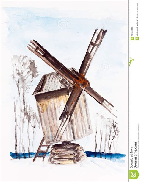 Handmade Windmill With Paper - windmill royalty free stock photography image 30331197