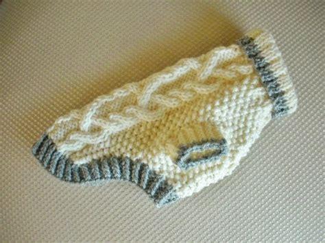 chihuahua sweater knitting pattern sweater cable knit ivory small yorkie